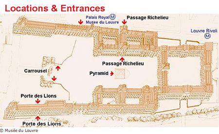 louvre entrance map