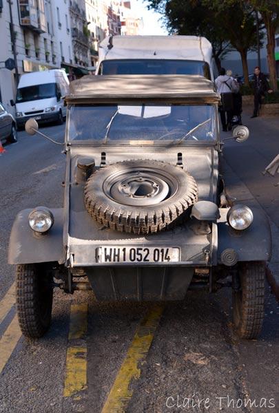 Paris Film set military