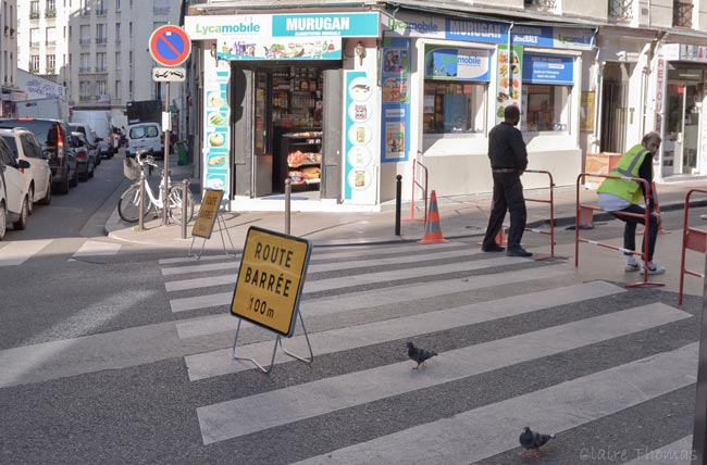 Paris Film street closed