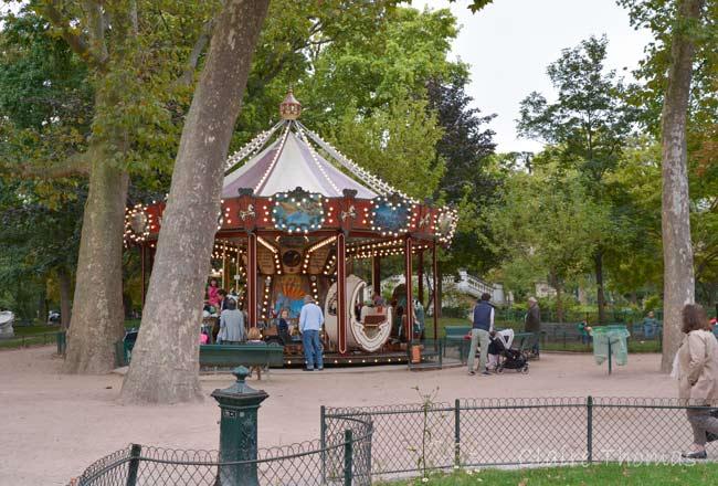 Paris Parc Monceau carousel