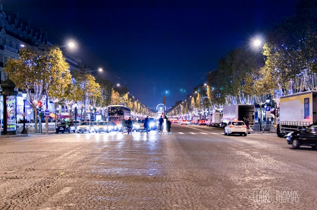 Paris holiday market Champs-Elysees