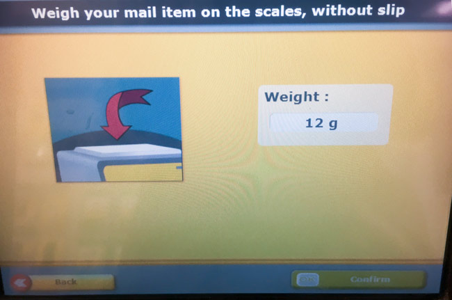 Weigh mail
