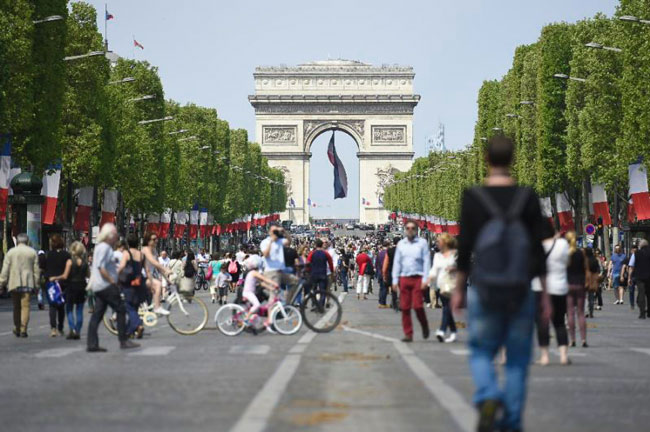Champs Elysees pedestrian