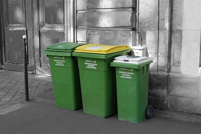Paris garbage bins