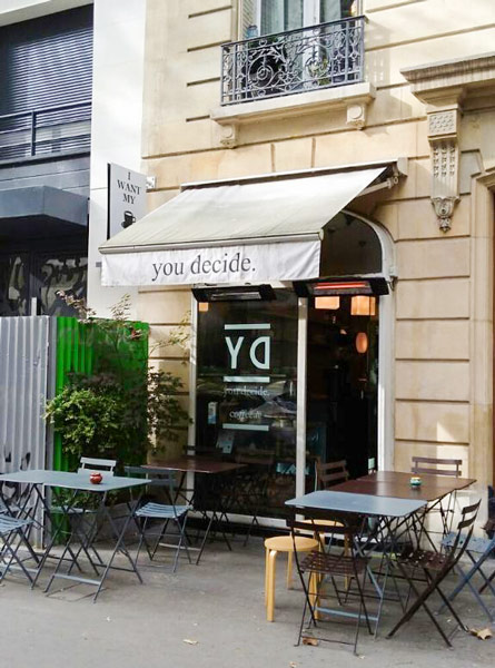 You Decide Paris cafe