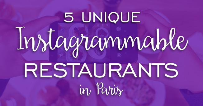 5 unique Instagrammable restaurants