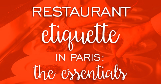 French restaurant etiquette