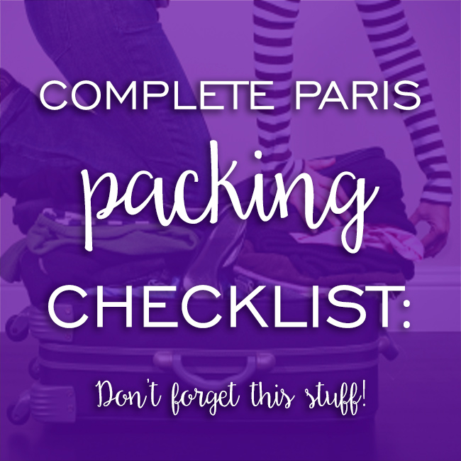 paris packing checklist